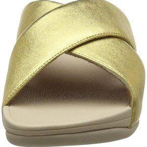 Fit Flop  Lulu Cross Slide Sandal Womens  Metallic